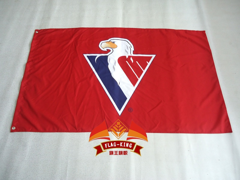 Bandera de hockey sobre hielo 90*150CM Bandera de poliéster, Bandera de juego de hockey sobre hielo Slovan