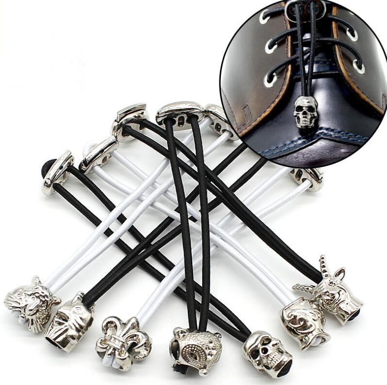Винтажные металлические Пружинные шнурки в стиле панк с головой животного