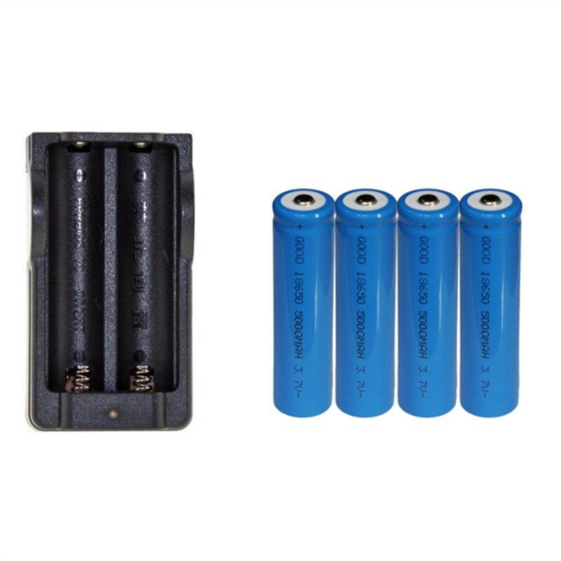4 шт. 3,7 В 18650 5000 мАч перезаряжаемая литиевая батарея с зарядным устройством