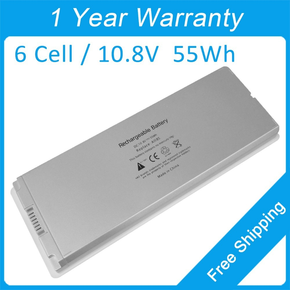 "Blanco a1181 a1185 batería del ordenador portátil para apple macbook 13 ""ma254 ma255 ma700 ma701 mb402j/una ma701b/a mb404ll/a mb062b/a ma561g/a"