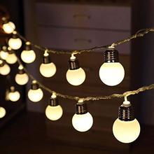 Guirlande de guirlande de Festoon à ampoule Globe 10/20/40 LED G50 à piles