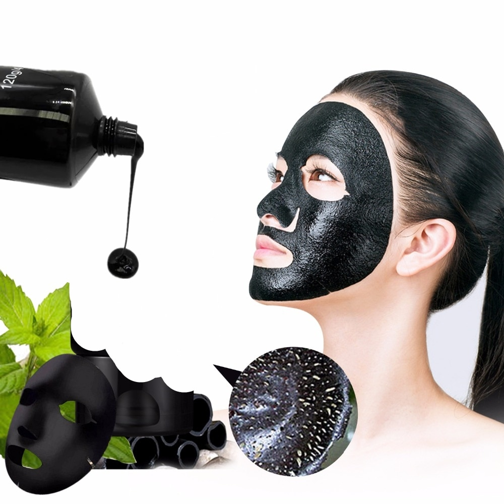 DISAAR-mascarilla Facial de esencia pura, 1 Uds., mascarilla Facial hidratante Anti arrugas Original de carbón de bambú, mascarilla negra, cosméticos
