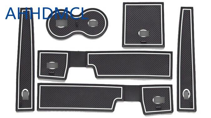 AHHDMCL antideslizante ranura de puerta de coche esteras taza reposabrazos almacenamiento Pad para BAIC Senova D70