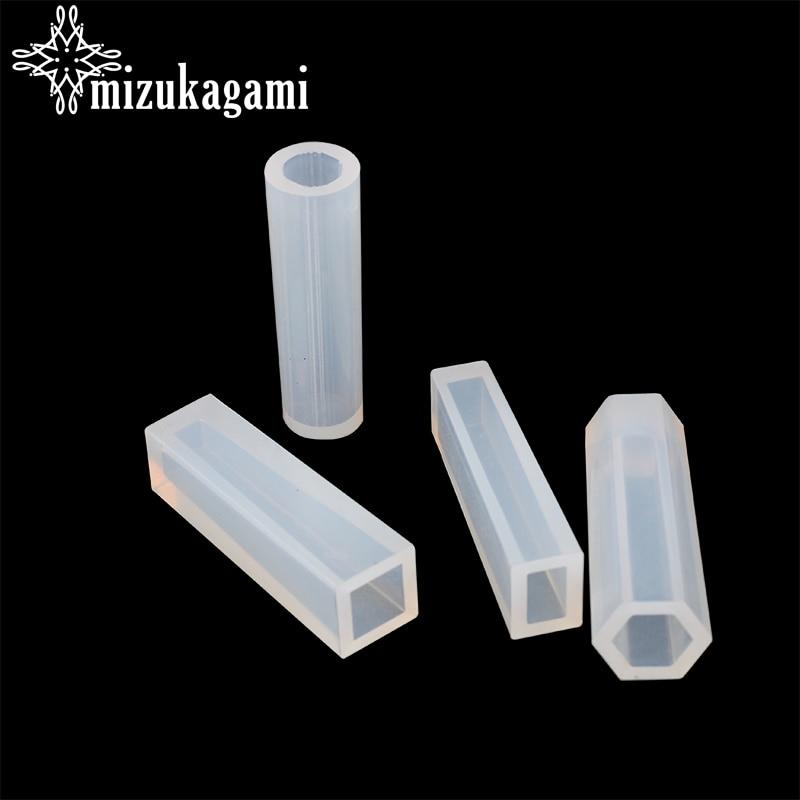 1 Uds. Molde de silicona líquida UV, resina DIY, joyería colgante cilíndrico, Molde de resina para collares para manualidades Fabricación de colgantes, joyería