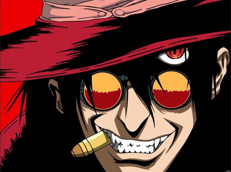 Hellsing Alucard Bullet Anime arte manga cartel estampado gigante D7463