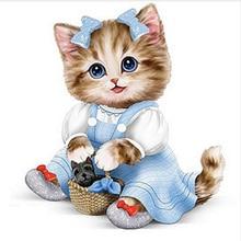 5D DIY Full Square/round Diamond Painting charming cat Embroidery Cross Stitch Rhinestone Mosaic  Home Decor