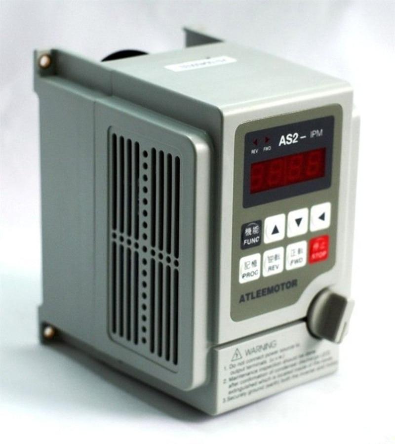 محول التردد لمحرك عمود الدوران ، محول التردد 2.2 كيلو واط 3 حصان 2000 هرتز VFD أحادي الطور 220 فولت الإدخال 3 مراحل 0-220 فولت الإخراج 10 أمبير للنقش