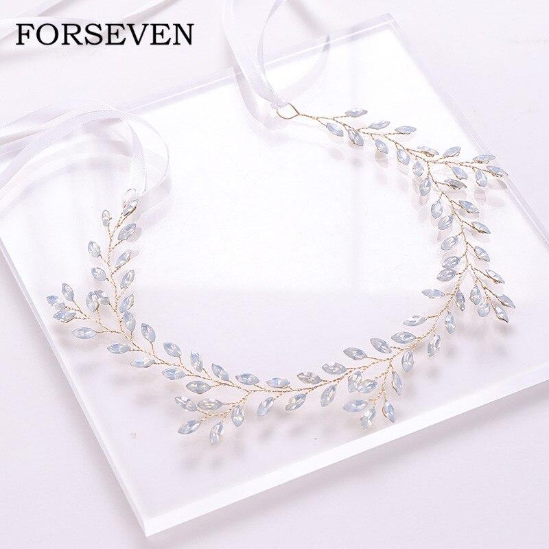 Diamantes de imitación diadema de boda de diamantes de imitación de oro diadema Accesorios nupciales para el cabello diadema adornos chica banda para el pelo de princesa