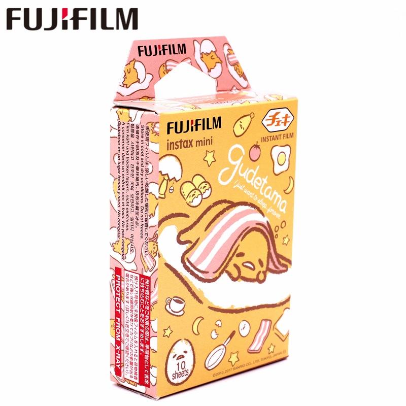New Fujifilm 10 sheets Instax Mini Gudetama Instant Film photo paper for Instax Mini 8 7s 9 25 50s 90  SP-1 SP-2 Camera