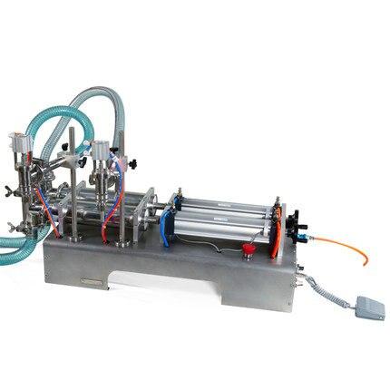 Горизонтальная пневматическая автоматическая разливочная машина G2WY с двойной головкой для духов, напитков, питьевой воды, молока, разлива ...