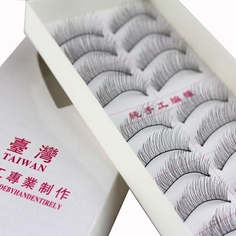 Hot 10 Pairs False Eyelashes Long Soft Handmade Fake Eye Lash Extensions Natural Full Strip Lashes 217#
