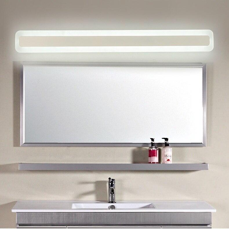 L40/60/80/100/L120CM luces de espejo, accesorios de luz para espejo de baño con led modernos para salón de maquillaje, iluminación para el hogar, lámpara de pared 90-240V