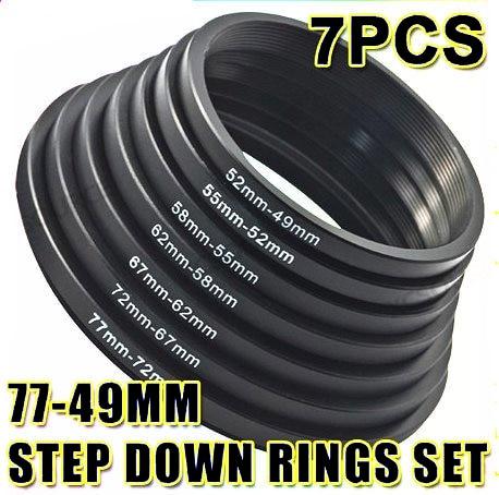 7 Uds 2017 anillos de reducción conjunto de filtros adaptadores de lentes para cámara Canon Nikon