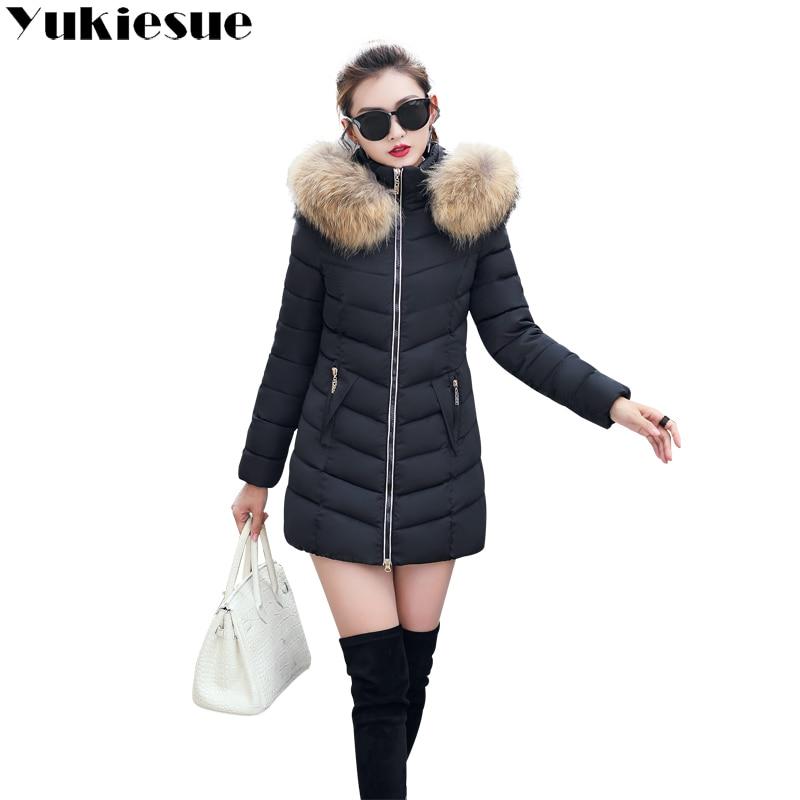2018 الشتاء النساء مقنعين معطف الفراء طوق رشاقته الدافئة طويلة سترة الإناث زائد حجم 4XL قميص سترة السيدات chaqueta feminino