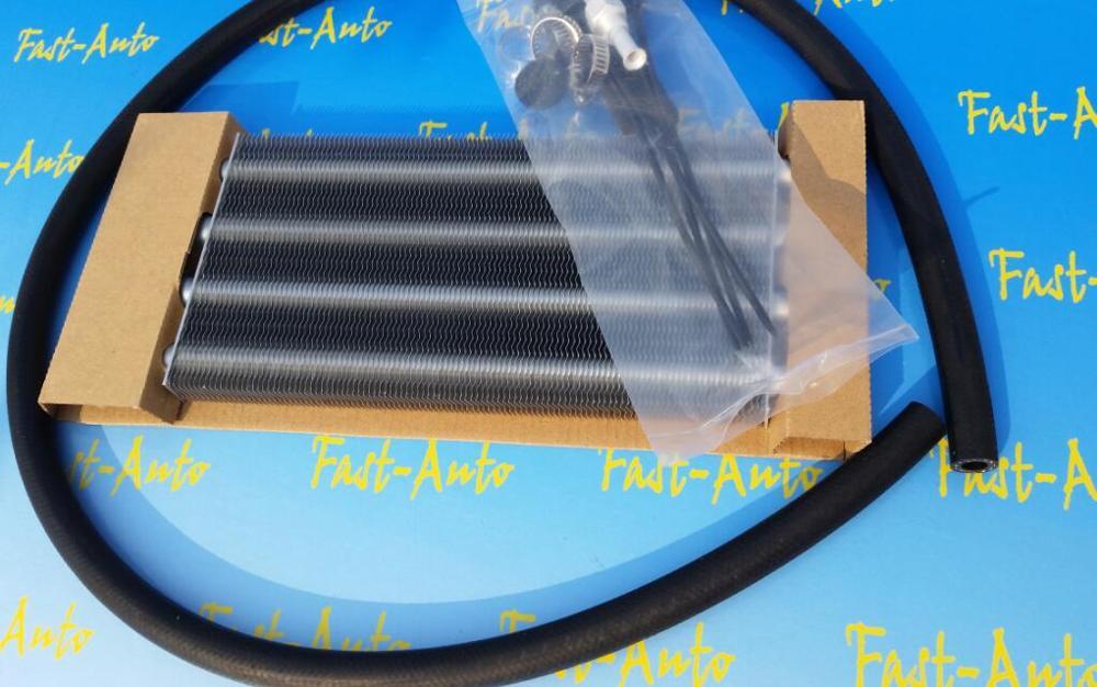 Universal 4 linhas de passagem fileira kits refrigerador óleo transmissão remota alumínio para sr20det rb26det 4g63 kits refrigerador óleo direção