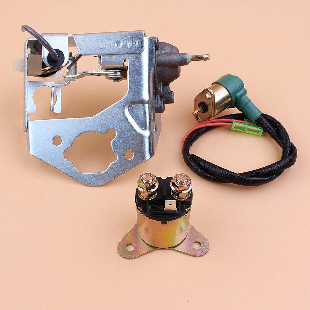 Kit de relé de solenoide del soporte de la válvula de estrangulación del carburador automático para Honda GX390 GX 390 188F generador de gasolina del Motor de 4 tiempos