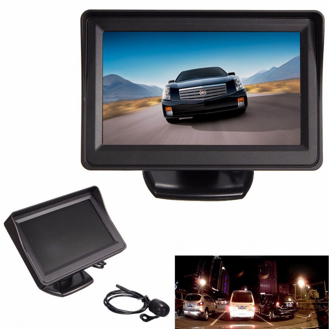 4.3 Inch Car Auto Rear View Monitor Reversing Color LCD TFT Display Car monitor Waterproof Vehicle Backup Rearview camera