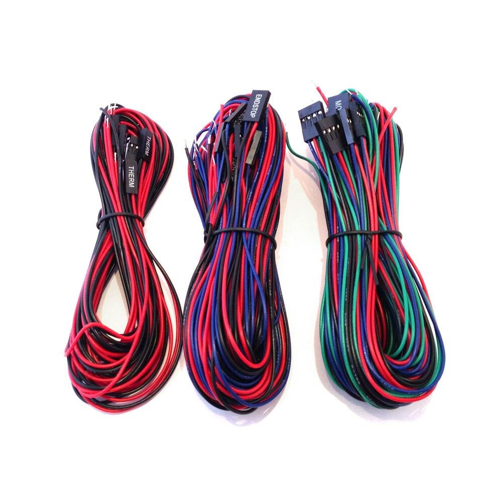 Kit de cables Funssor para rampas 1,4 Kit de cableado de placa base de impresora 3D 20 cables RepRap/rampas prusa 1,4 kit/juego de cables de placa