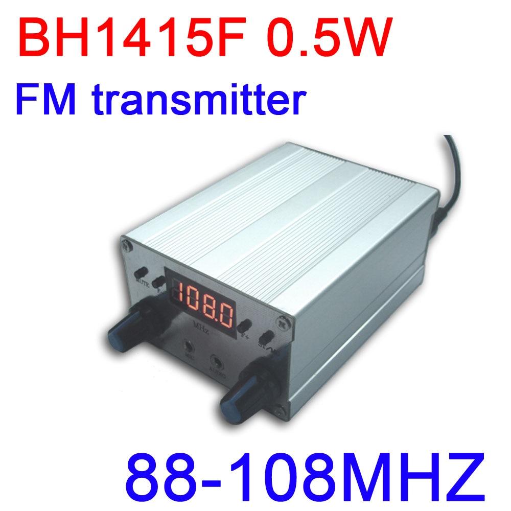 BH1415F 0.5 واط FM ستيريو الارسال 88 ميجا هرتز-108 ميجا هرتز FM الارسال مجلس FM راديو استقبال PLL الصوت شاشة led رقمية تردد