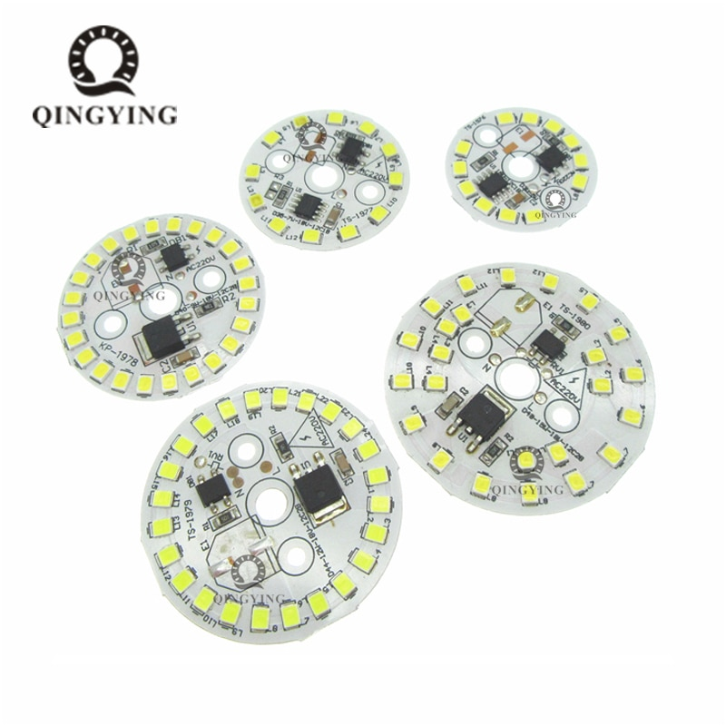 50 Uds bricolaje bombilla LED para lámpara SMD 15W 12W 9W 5W 7W luz Chip AC220V entrada inteligente IC LED de bulbo de luz blanca