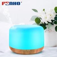 FUNHO     humidificateur dair ultrasonique pour aromatherapie  diffuseur dhuiles essentielles et darome  veilleuses LED a 7 couleurs  brumisateur pour maison  300ml