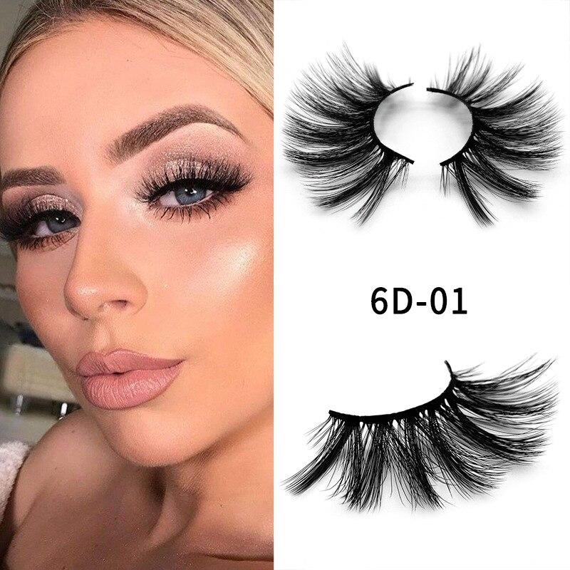 25mm mink 3D hair false eyelashes thick natural super long mink lashes with retail box plastic cotton stalk 500pairs/lot DHL