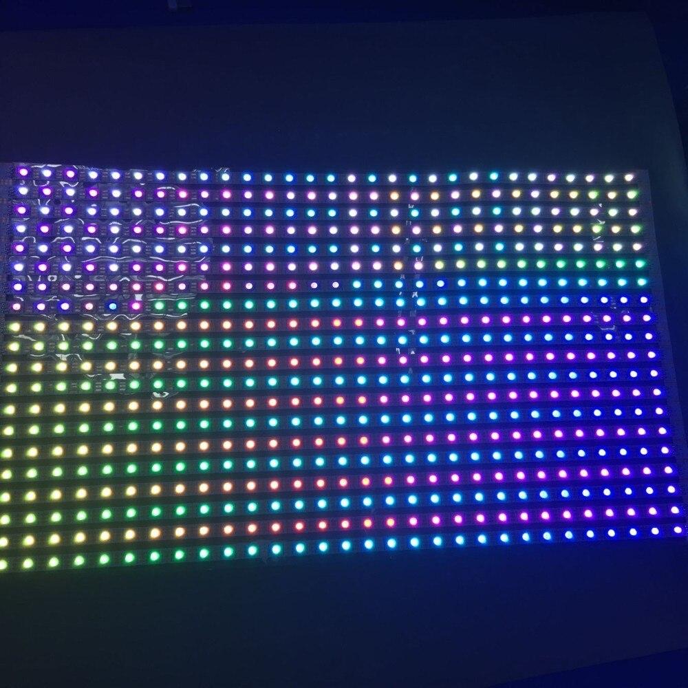 WS2813 direccionable 30*24 píxeles RGB a todo color flexible LED Pixel Panel de luz; entrada DC5V