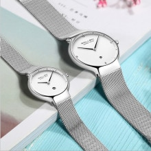Fashion Simple Brand Lovers Watches Imported Quartz Milanese Bracelet Watch Business Couples Calenda