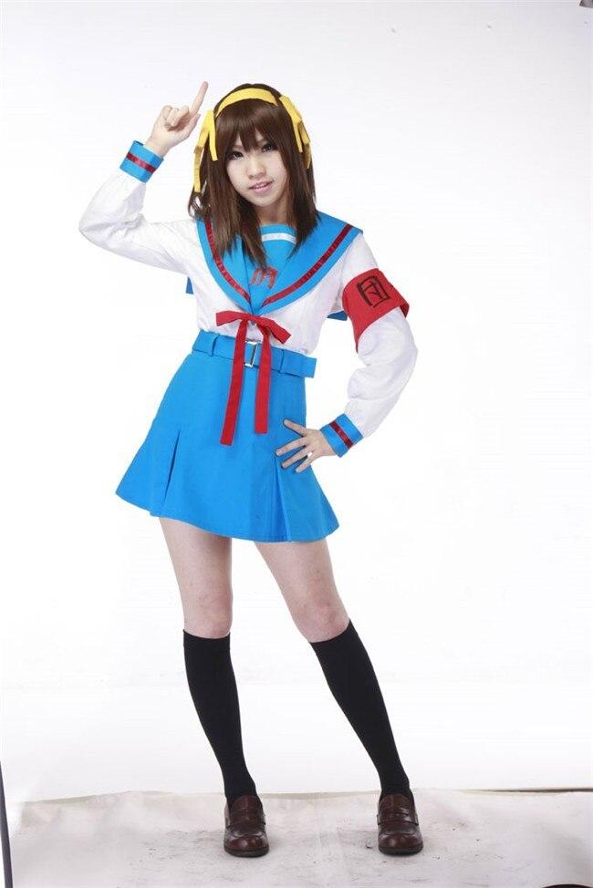Suzumiya Haruhi No Yuuutsu Anime Cosplay Suzumiya Haruhi Winter School Uniform Cosplay Halloween Costumes Costume Wings For Sale Costume Bridal Jewelry Setscostume Watch Aliexpress