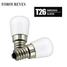 4pcs T26 1.5W E14 Refrigerator LED lighting mini bulb AC220V Bright indoor lamp for Fridge Freezer Crystal chandeliers Lighting