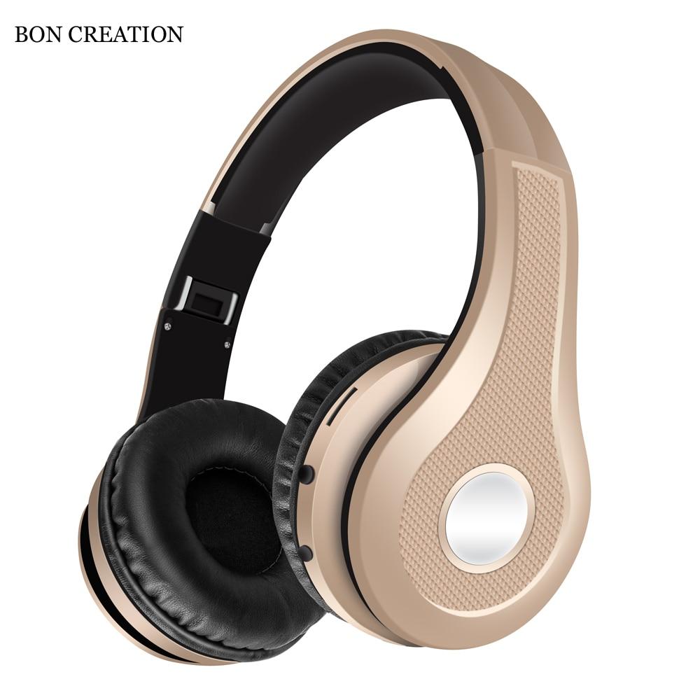 Auriculares Bluetooth BON CREATION K5, auriculares de deporte inalámbrico a la moda con micrófono para teléfonos y música