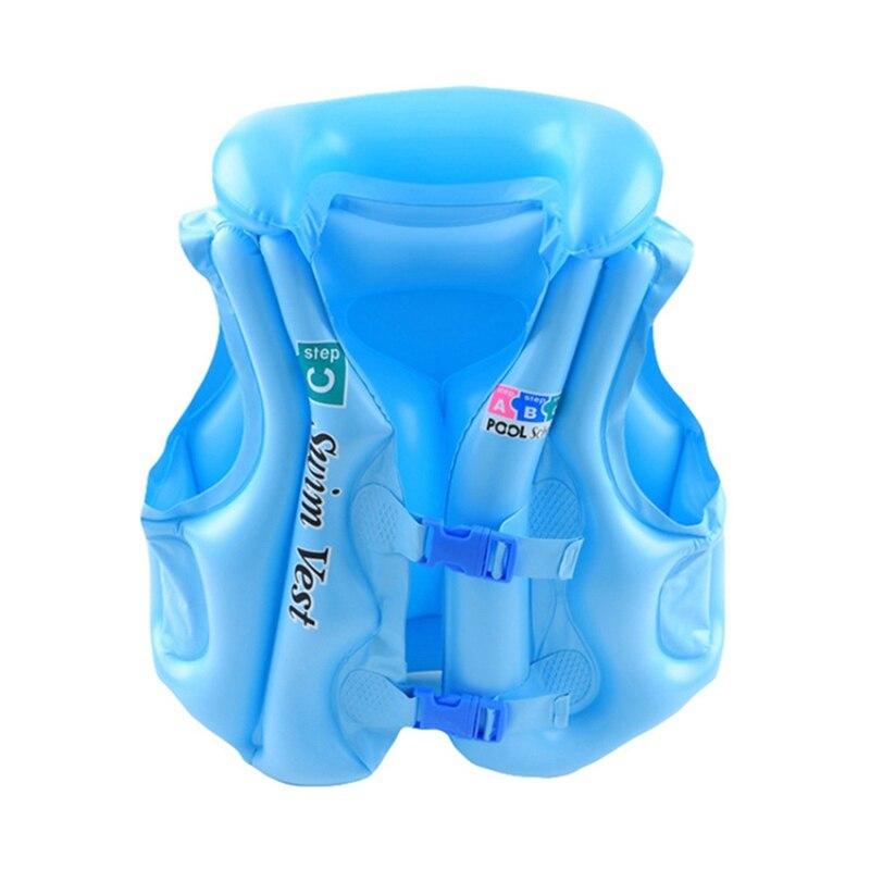 PVC flotador piscina ayuda flotador chaleco inflable para natación aprender a nadar vida flotabilidad chaleco para niños