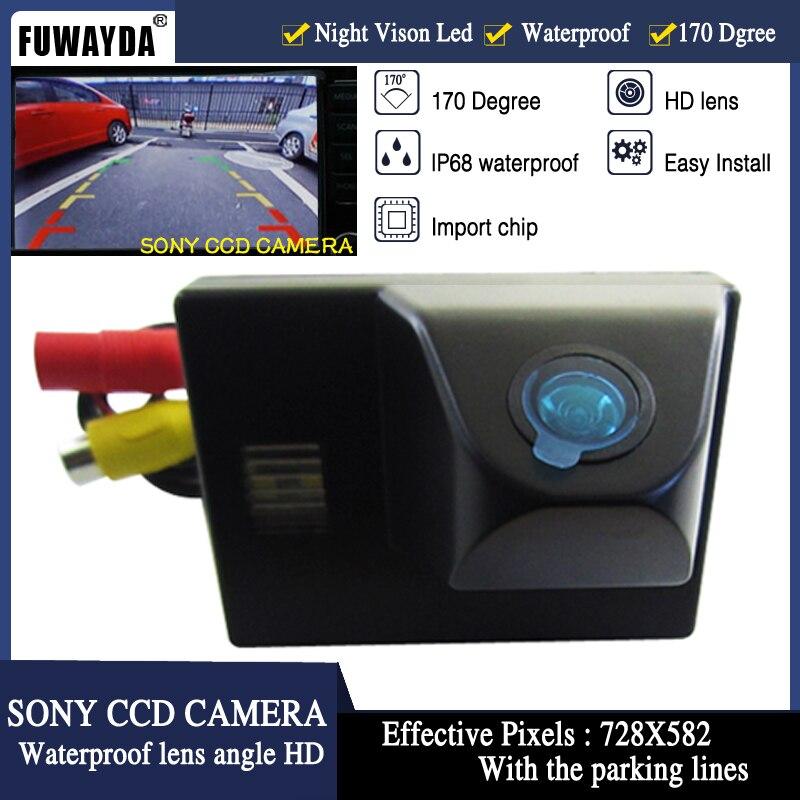 FUWAYDA HD, Chip CCD, espejo retrovisor del coche, imagen con línea de guía, cámara para TOYOTA Land Cruiser LC 100 120 4500 4700, impermeable