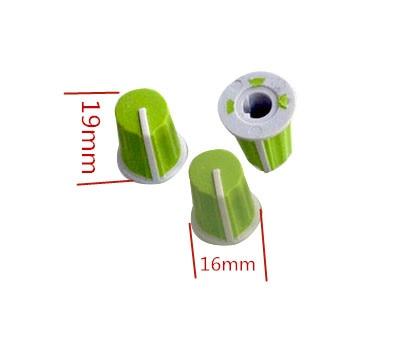 100 قطعة الأخضر نصف المحور الجهد المطاط مقبض/مؤشر 90 درجة/خلاط/الأجهزة/أداة مقبض تعديل/16*19 مللي متر