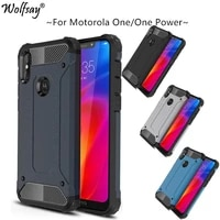 fitted case sfor motorola moto one power case 6 2 tpu pc shockproof hybrid armor full cover for moto one powerp30 note xt1942