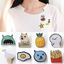 Colorful Unisex Acrylic Mini 1PC Sweater Brooches Button Pins Denim Coat Badges For Bag Fashion Jewe