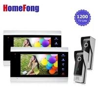 homefong 7 inch monitor video doorphones intercom doorbell camera system 1200tvl hd monitoring door viewer 2v2 recording