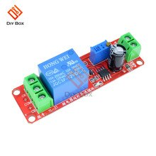 Ne555 타이머 스위치 가변 모듈 시간 지연 릴레이 dc 12 v 지연 연결 턴 온 모듈 ac 250 v 10a dc 30 v 10a 쉴드 0 ~ 10 s