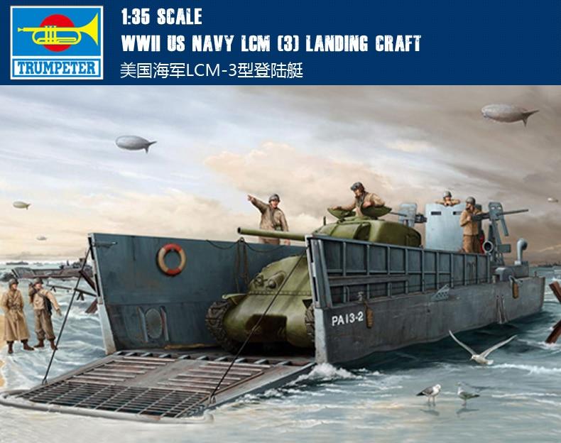RealTS Trumpeter 1/35 WWII US Navy LCM (3) Landing craft Model Kit # 00347