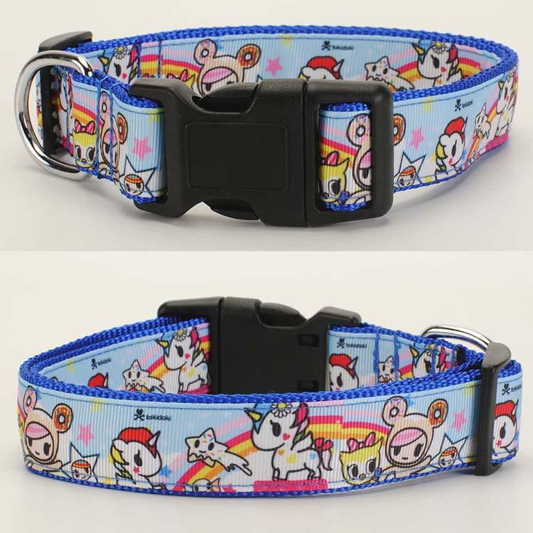 """Nuevo 1 """"25mm de dibujos animados tokidoki patrón Collar de perro de 1 pulgadas Collar de perro 2 tamaño disponible"""
