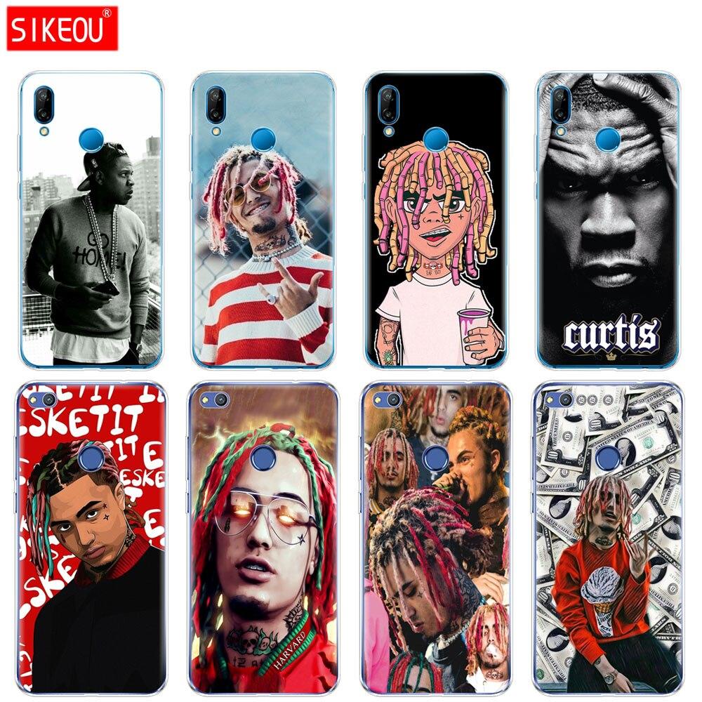 Silicone Case Capa Do Telefone Para Huawei P20 P7 P8 P9 P10 Lite Plus Pro 2017 p inteligente 2018 50 Cento jay Z-Lil Bomba
