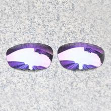 E.O.S Polarized Enhanced ReplacementLensesforOakleySplit Jacket Sunglasses - Violet Purple Polarized Mirror