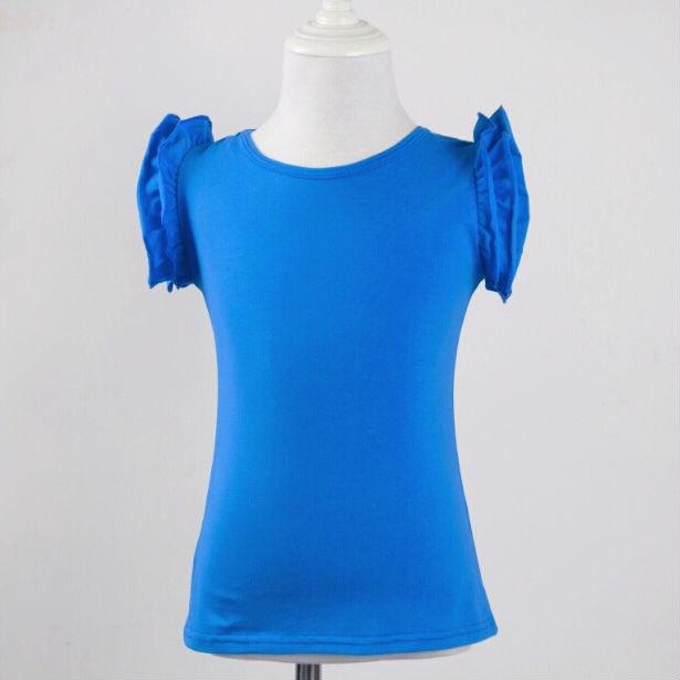 Latest Design Girls kids tunic tops Children clothing Kids Ruffle Tank Top flutter sleeveless top