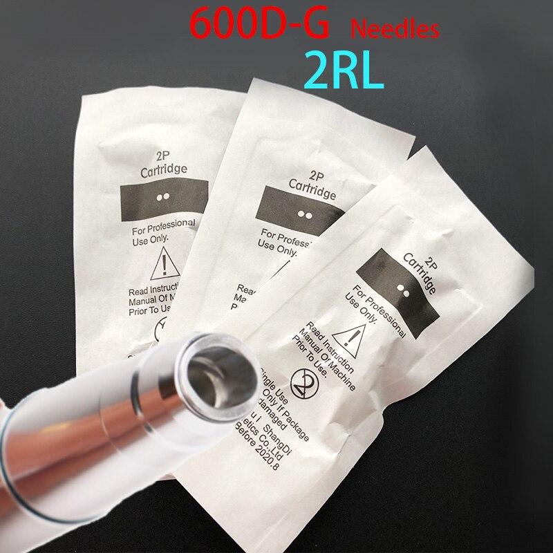 600D-G Agulhas agujas de maquillaje permanentes de fácil clic 2rl para agujas de cartucho Taattoo Kits de 50 Uds