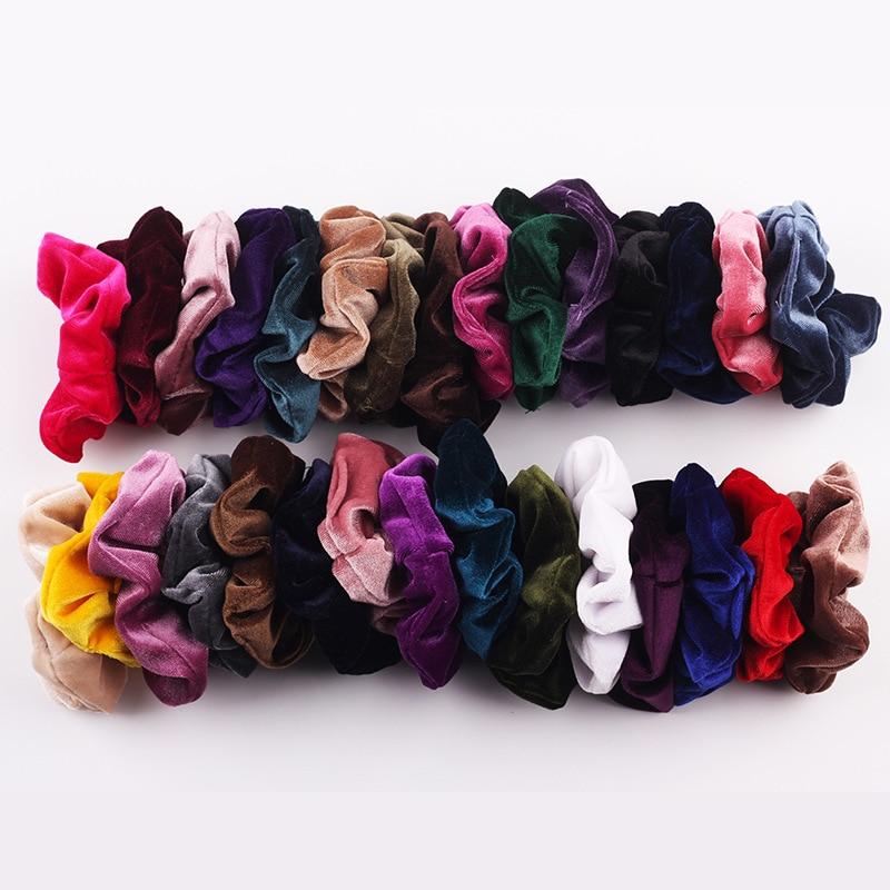 Baršunasta traka za kosu za žene i djevojke, elastične gumice za - Pribor za odjeću - Foto 2