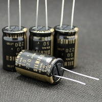 10pcs/30pcs Original Japanese ELNA RFS SILMIC II 50V 220UF Gold Word Audio Electrolytic Capacitor free shipping