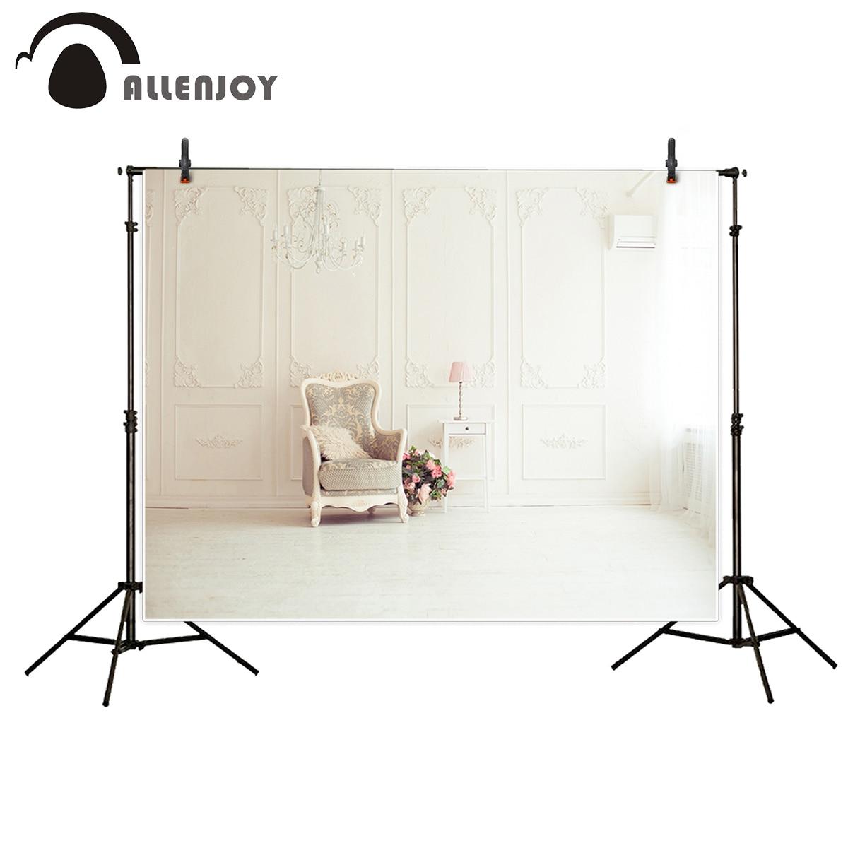 Allenjoy fotografía telón de fondo estilo europeo pared interior romántica boda silla luz Fondo cámara de estudio fotográfico fotográfica
