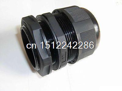 10 Uds 4 ~ 8 mm Cable eléctrico de Nylon negro impermeable M16 * 1,5mm glándula de Cable