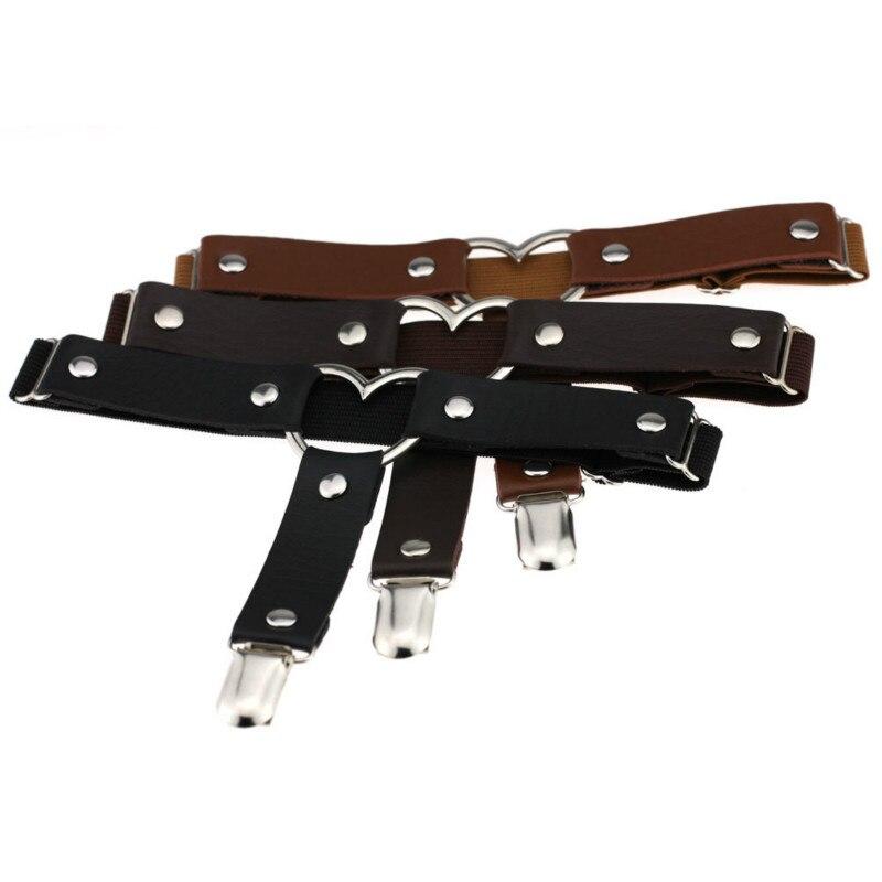 1 Pcs Women Sexy Punk Gothic Heart PU Leather Suspenders Socks Belt Leg Ring Thigh Stockings Elastic Garter Belt Drop Shipping