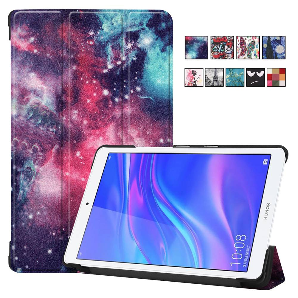 Funda de cuero para Huawei MediaPad T5 8,0 JDN2-W09/AL00 Fundas M5 Lite 8,0 Tablet Flip funda para Huawei Honor Pad 5 8,0